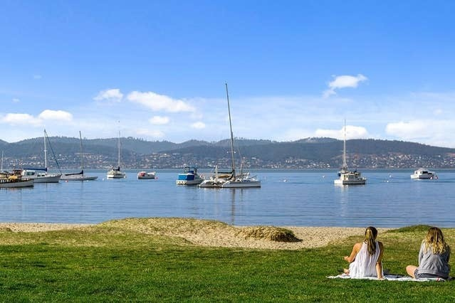 Beach front in Sandy Bay Hobart